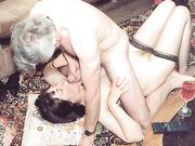 Brunette mature housewife and slut fucks several different old men