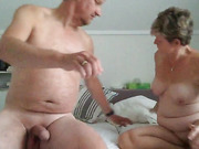 Wife fucked by hubby's friend, he shoots his cum on and in her