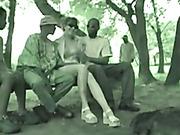 Mature wife gangbanged while on African safari
